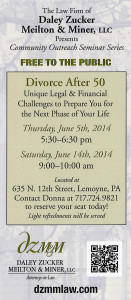 Free Seminar Divorce After 50 in Lemoyne