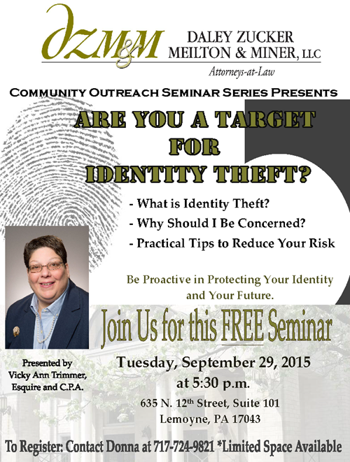 Join us for a Free ID Theft Seminar
