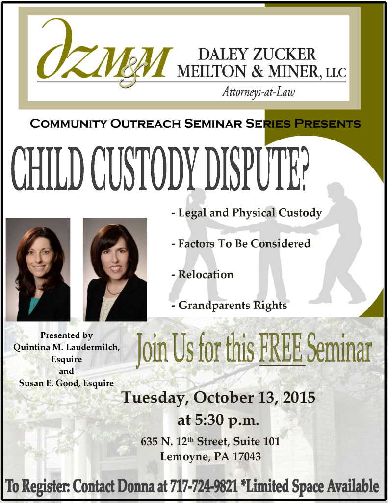 Child Custody Dispute Seminar