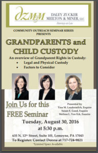 Call to register for our grandparents custody rights seminar. Seating is limited.