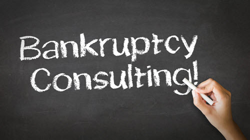 bankruptcy consulting written in chalk