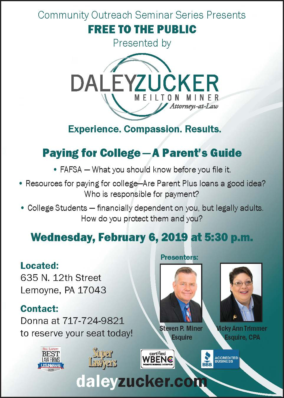 Paying for College - A Parent's Guide