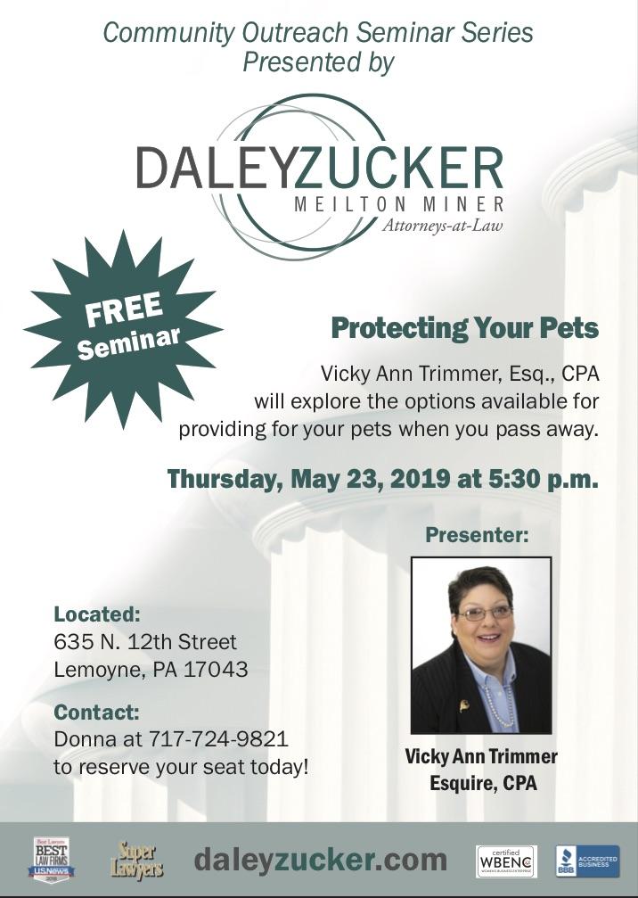 Protecting Your Pets Seminar
